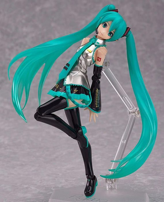 Hatsune Miku Action Figurine| $25 . This cute, classic Hatsune Miku figure comes with joint so you can change her pose and accessories.You can buy this classic and beautiful figure on https://www.etsy.com/shop/SEBOID to have your own vocaloid concert in your room! ^^