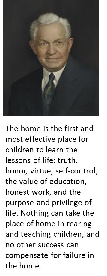 Home is where the great things take place. This is a great quote by David O. McKay