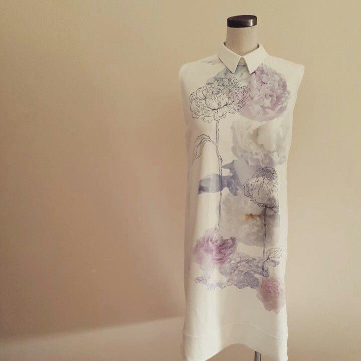 Her flower shirt dress #shahnazsoraya #designer #digitalprint