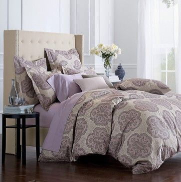 Olympia Wrinkle-Free Sateen Comforter Cover/Duvet Cover And Sham - contemporary - duvet covers - - by The Company Store