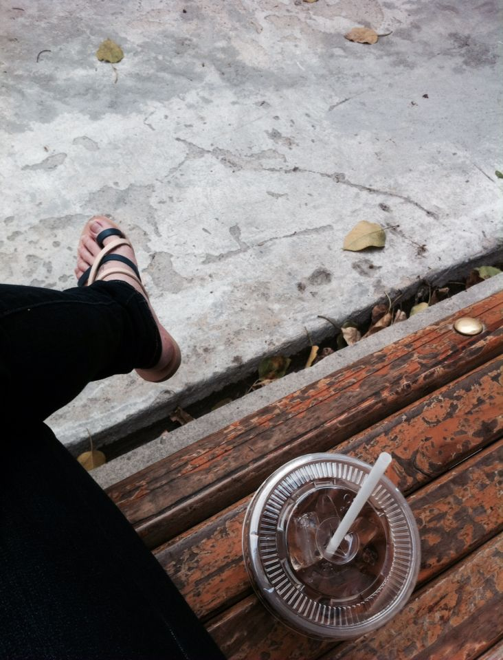 Shoes, coffee n street