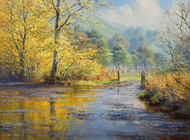"""""""After the Rain, Beresford Dale"""" by Rex Preston - limited edition print"""