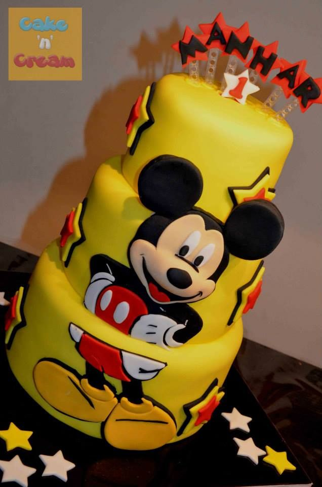 Mickey Mouse 3 Tier Cake Neutral Cakes For Boys And Girls