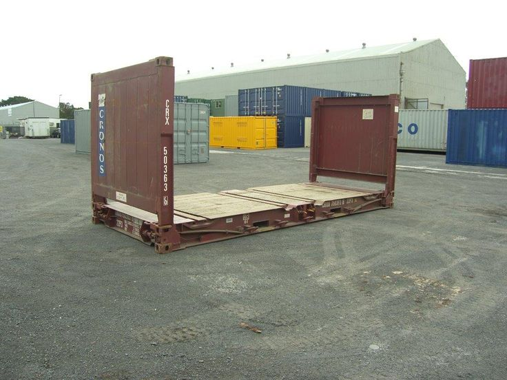 20' Flat Rack Containers | Port Containers America