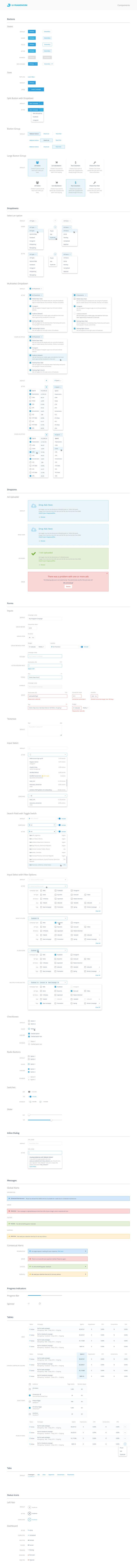 AdRoll UI Framework – Style guide by Mason Lee
