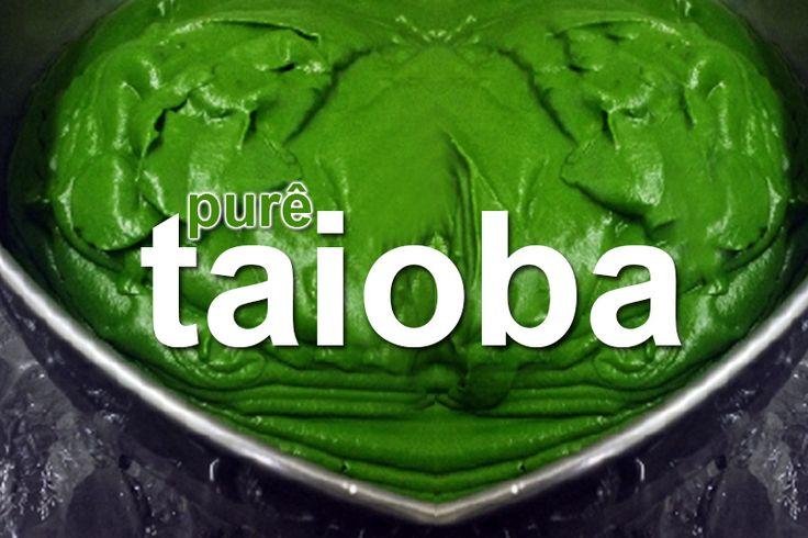 A taioba é riquíssima em pró-vitamina A antioxidante, uma ótima opção ao espinafre em várias preparações, aprenda a fazer purê de taioba.