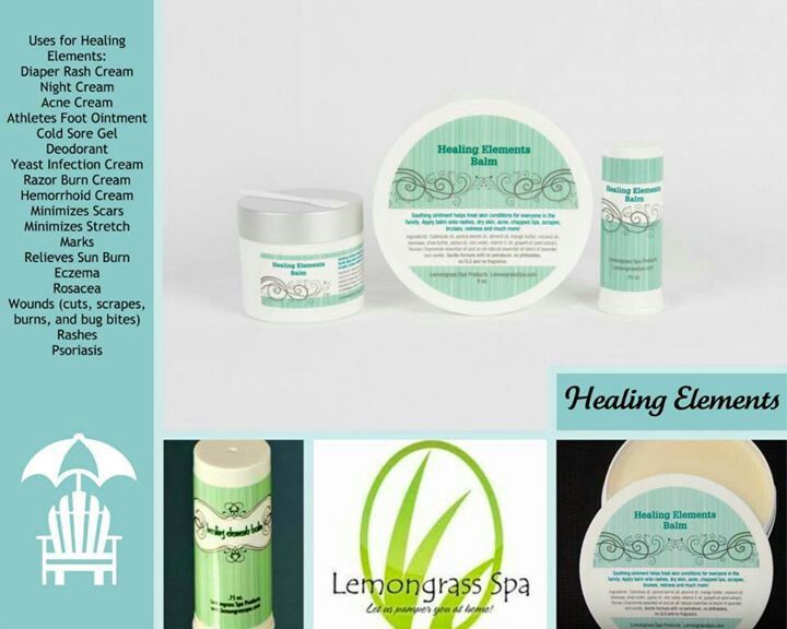 Healing Elements Balm Lemongrass Spa Products With