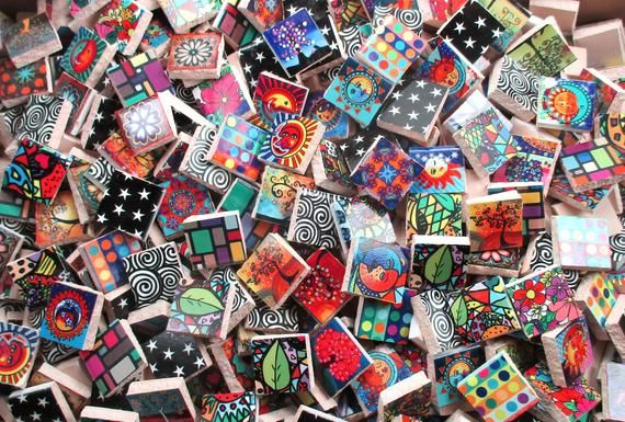 Bulk Mosaic Tiles 2 Pounds Mixed Designs Patterns Bright Sun Etsy With Images Flower Tile Mosaic Tiles Mosaic Art