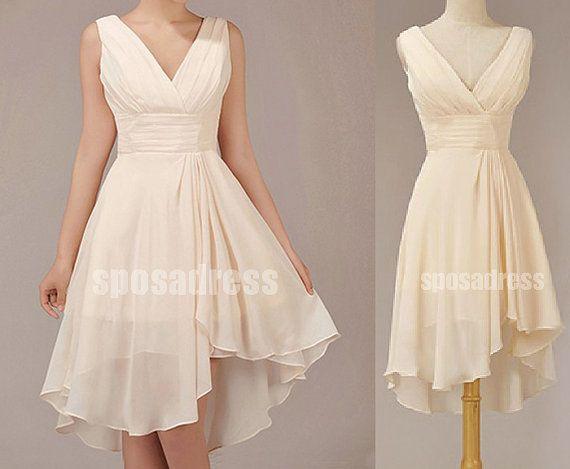 coral bridesmaid dress junior bridesmaid dress short by sposadress, $92.00