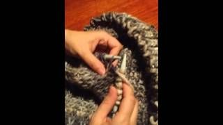 snood fausse maille anglaise - YouTube