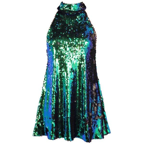 Petite Jasmine Sequin High Neck Swing Dress ($43) ❤ liked on Polyvore featuring dresses, tent dress, sequin dress, petite cocktail dress, swing dress and trapeze dress