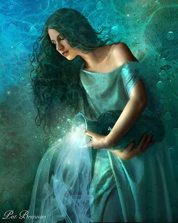 """Aquarius"" by Pat Brennan (Digital Art / Photomanipulation / Fantasy)."