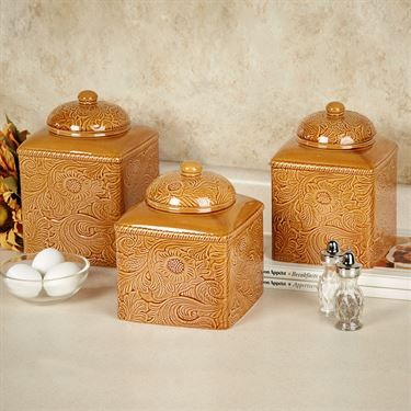 Savannah Gold Kitchen Canister Set