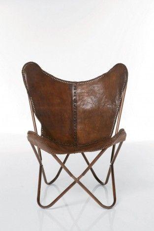 KARE Prague - Arm Chair Butterfly Brown