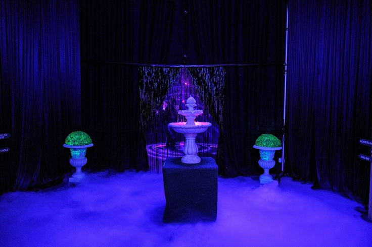 As an entry to our Alice in Wonderland party we created a striking entry tunnel filled with smoke and dry ice for effect. Photo by Jon Jarvela