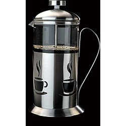 French Press 3-cup Stainless Steel Coffee Maker  @Overstock - Brew amazing cups of coffee with this three-cup stainless steel coffee maker. The coffee makers French press makes coffee that tastes pure and smooth, and its decorative finish, which features stylized coffee cups, lends elegance to your kitchen.http://www.overstock.com/Home-Garden/French-Press-3-cup-Stainless-Steel-Coffee-Maker/3534035/product.html?CID=214117 $23.99