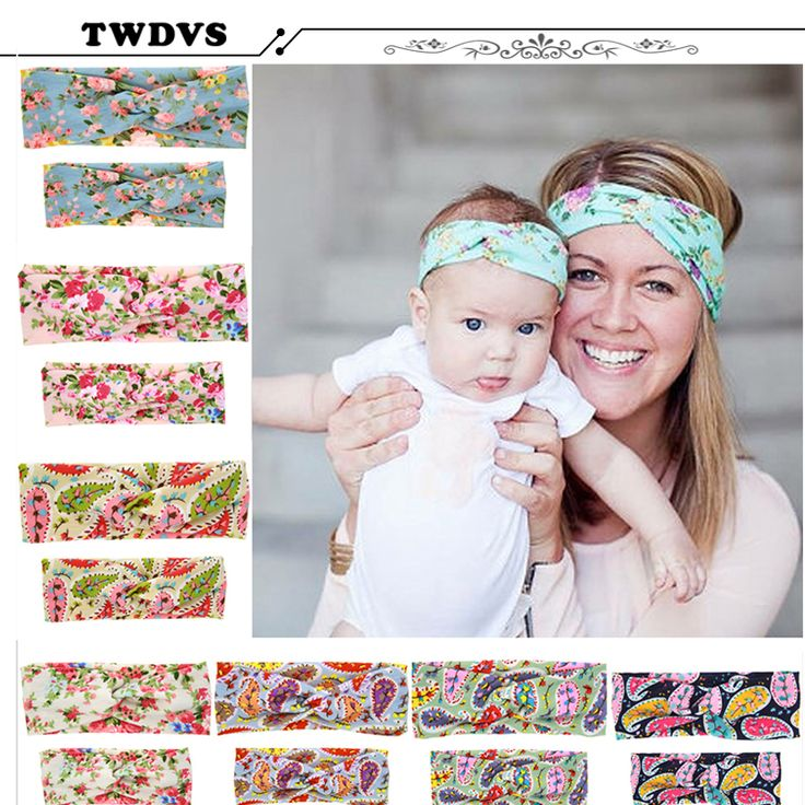 TWDVS Hair AccessoriesWoman Baby&Mother Paternity Style Cross Knot Headband Beautiful and Comfortable Hair Accessories W207