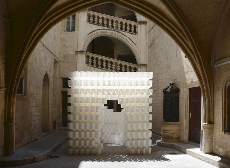 studio 3A builds 'paper cloud' pavilion at festival des architectures vives