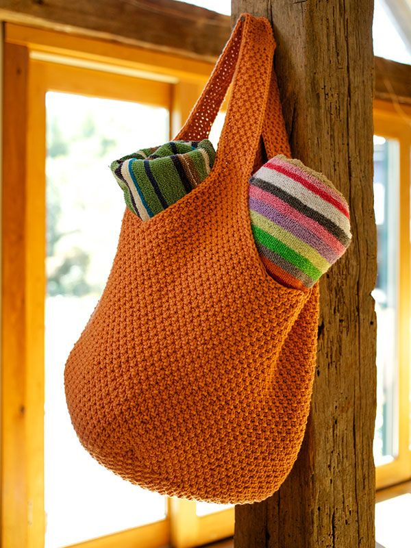 Bag Knitting Patterns : 439 best Knitting - Bags images on Pinterest Knitting bags, Free knitting a...