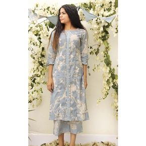 BATTEN KURTA - FRONT PLEAT AND FRILLED SLEEVE TUNIC | LADIES TUNICS