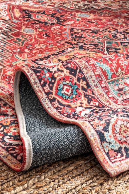Rugs Usa Orange Rosie Medallion Rug Powder Room In 2018