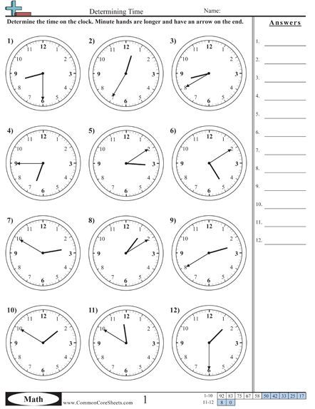 Time Worksheets Large selection of US worksheets- useful for maths and other subjects #spanish: