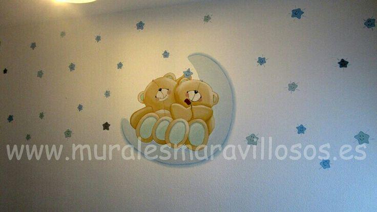 Las 25 mejores ideas sobre murales pintados en pinterest for Cuartos de bebes pintados