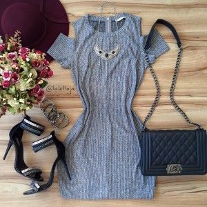 Vestido cinza super bonito