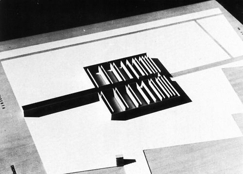 Giorgio Grassi. Competition for a War Memorial to the Resistance. Brescia, 1965