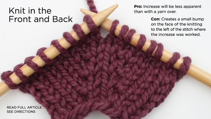 Knit into the Front and Back
