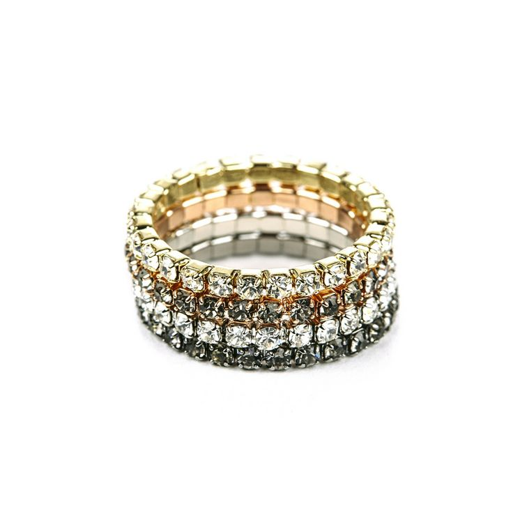 """Sole Society """"Crystal Stacked Ring Set"""", $24.95"""