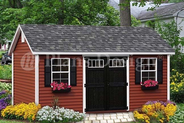 Shed Plans - Shed Plans / Playhouse 10 x 16 Gable Roof Design # D1016G, Free Material List - Now You Can Build ANY Shed In A Weekend Even If You've Zero Woodworking Experience!