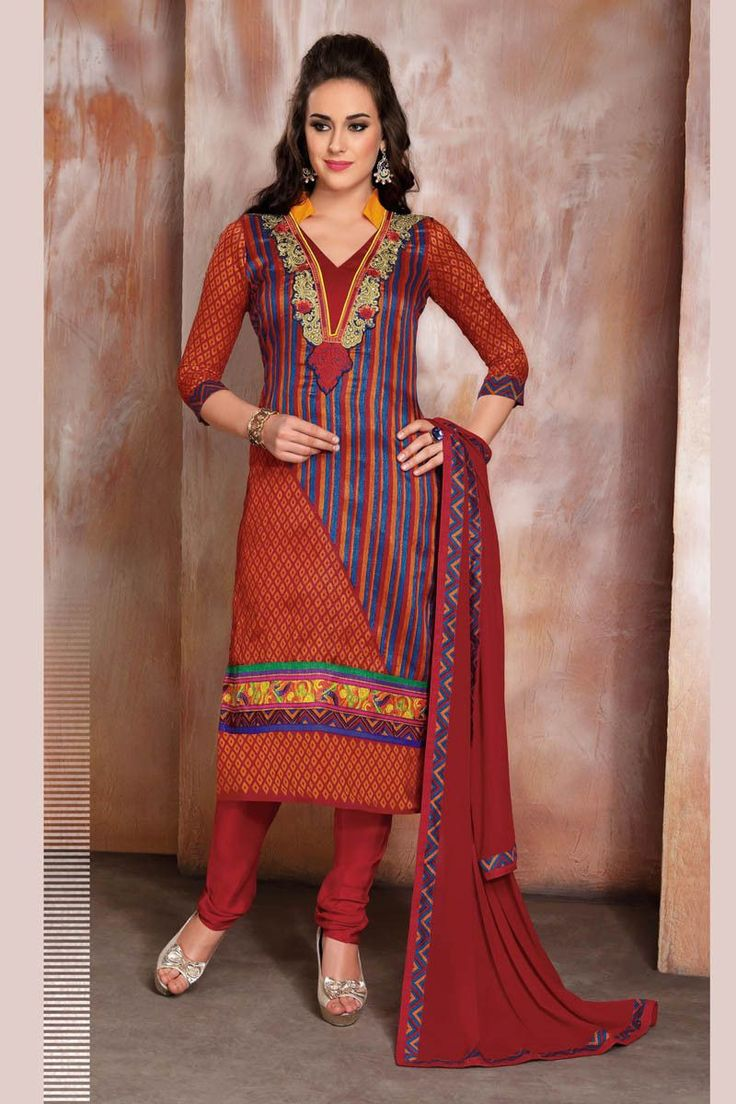 Multi Color Raw Silk Printed Designer Semi Stitched Dress Material