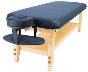 Master Massage Dearborn Stationary Massage Table, Blue, 30 Inch by Master Massage. $500.99. The frame and bed plywood are CARB compliant for your safety  no formaldehyde or carcinogens used. Supports 2,500 pounds. 2.5 inch thick cushion of multi-layer small cell foam  higher density than other massage tables. Safe for bariatric customers. Rounded corners for the perfect high-end spa look. Our 30 inch Dearborn stationary spa massage table features our double thickness deck, our...