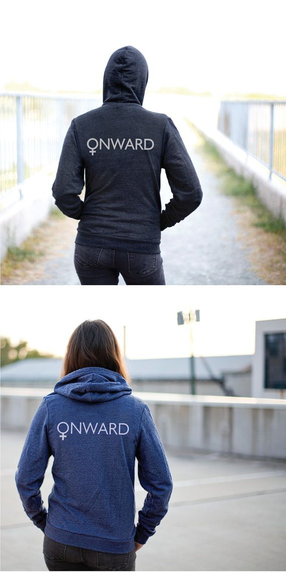 ONWARD zip up hoodie - unisex sweatshirt - womens march on washington - feminist shirt - unisex hoodie - zip up sweatshirt - feminist print