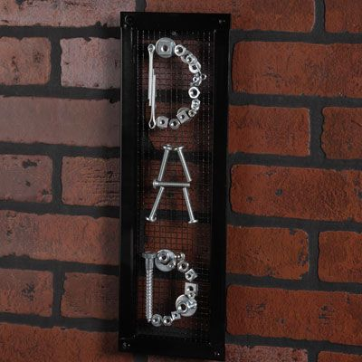 Great craft to make for a Father's Day gift for Dad's workshop or garage!