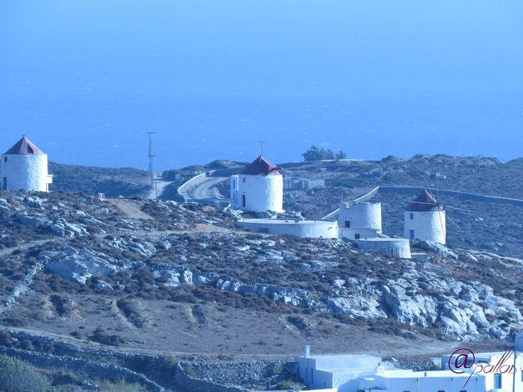 Greece Amorgos. Summer in Greek islands. Aegian sea. Blue sea.