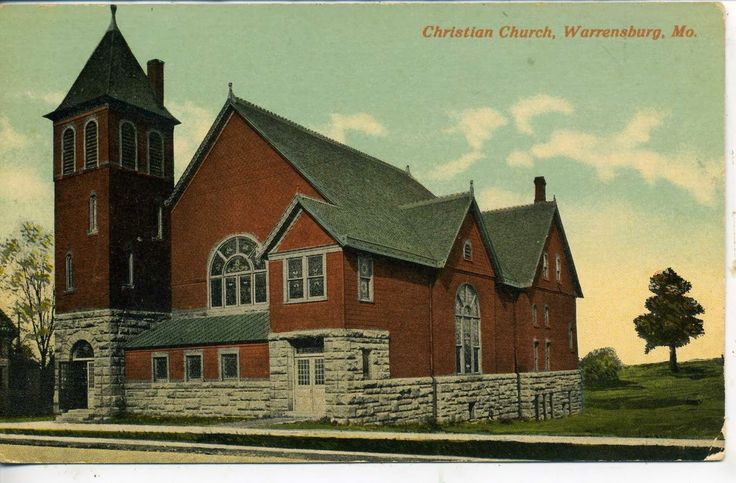 Johnson County and Western Missouri History: Old Photographs of Churches in Warrensburg, Missouri