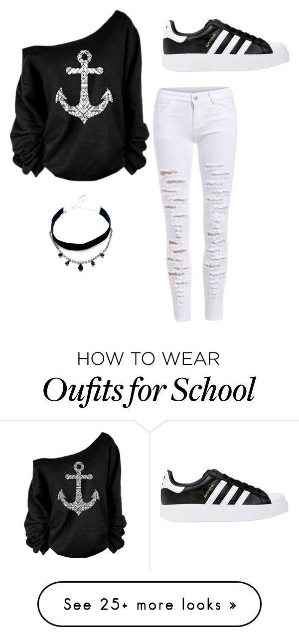 """Outfits for school"" by annycamill on Polyvore featuring adidas Originals and Child Of Wild"