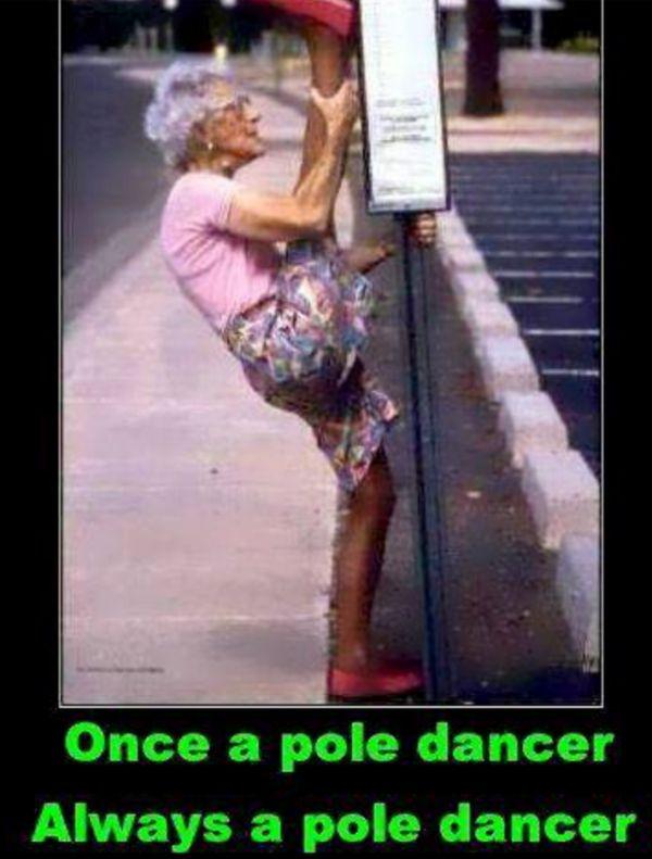 Once a pole dancer - http://www.jokideo.com/pole-dancer/