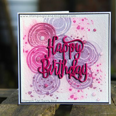 Independent UK Stampin' Up!® Demonstrator seller of paper craft supplies shares tips and ideas : Totally Techniques Water Colour Spritz Blog Hop