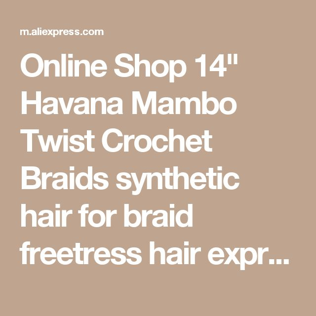 "Online Shop 14"" Havana Mambo Twist Crochet Braids synthetic hair for braid freetress hair expression braiding hair freetress crochet braid 