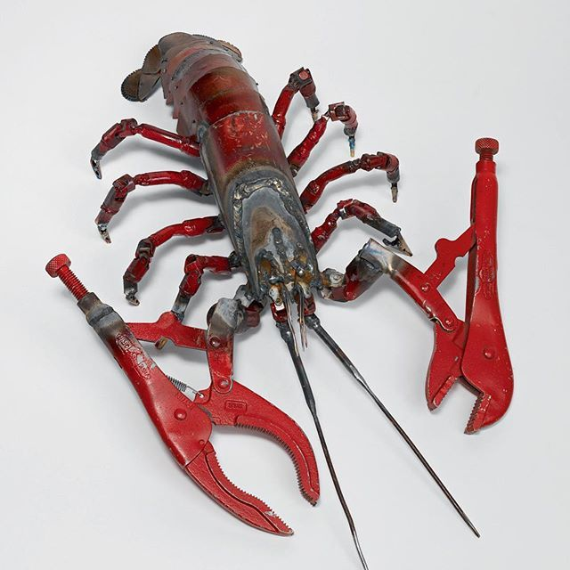 Tom Sachs, 'Lobster,' 2016. Steel. Image from 'Tea Ceremony Manual,' a complete illustrated guide to @tomsachs' unique culture of Tea. Join us tomorrow at 3pm for the last chance to see #TomSachs perform his tea ceremony in person at the Museum, and at 5pm for a book signing and reception for the publication (also available at shop.noguchi.org). #TomSachsTeaCeremony