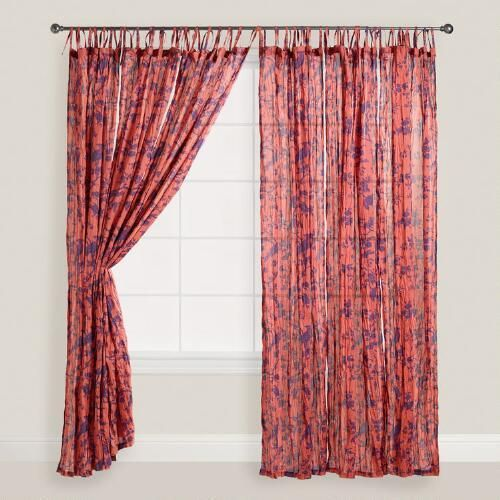 Set red Print at max Curtains  WorldMarket com  Bird discoveries my favorite blue dynamic solar One Voile Crinkle of    air flywire   of