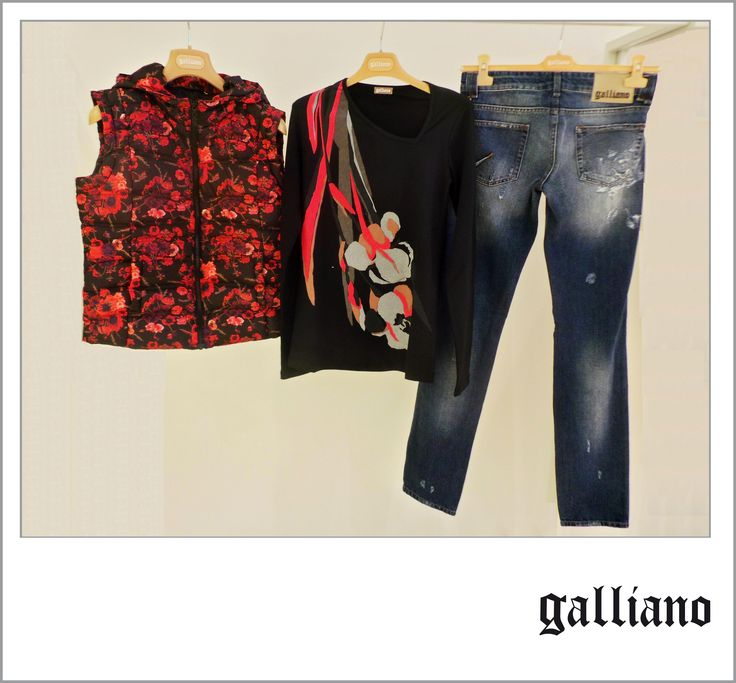 #Vest / #Gilet - #Galliano  Original #price: 349,00€ #Outlet price: 210.00€ #TShirt / #Maglietta - Galliano Original price: 87.00€ Outlet price: 53,00€ #Skinnyjeans / #Jeans modello #skinny - Galliano  Original price: 243.00€  Outlet price: 146.00€ Available at Galliano - store number 27. Disponibili presso Galliano - civico 27. http://www.palmanovaoutlet.it/it/outlet/negozi/galliano