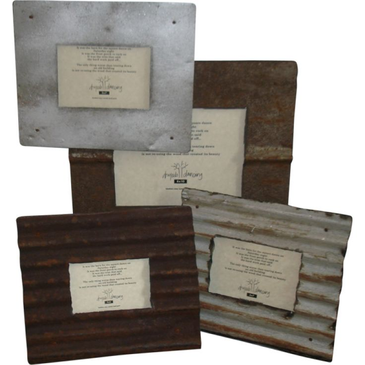 Signs made from tin roofing | Home » Rusty Roof Tin Frames