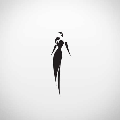 I like the clever use of negative space in this.However, it seems slightly unbalanced