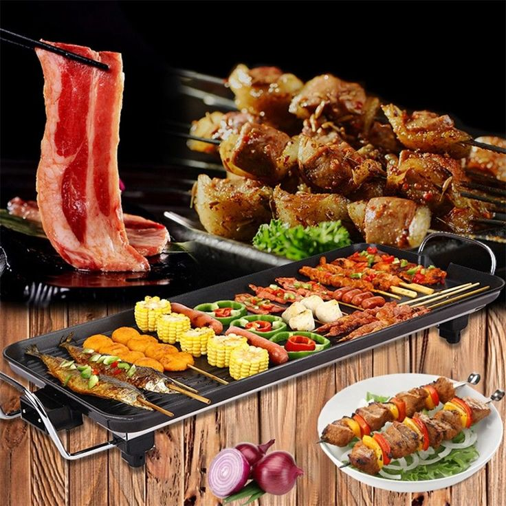 Electric Alloy Teppanyaki Table Top Grill Griddle Bbq Barbecue Non Stick Pan