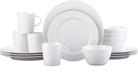 Crate and Barrel, Maison White Dinnerware Set