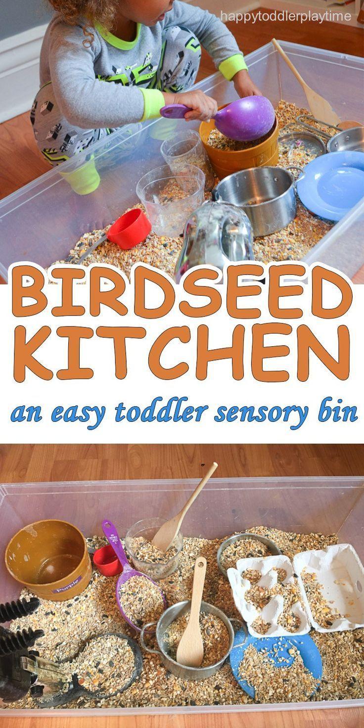 BIRDSEED KITCHEN SENSORY BIN